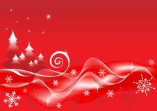 Fondo del rojo del invierno. Imagen de archivo