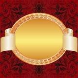 Fondo del rojo del oro Fotografía de archivo