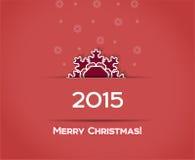 Fondo del rojo del vector del copo de nieve de la Navidad Imágenes de archivo libres de regalías