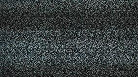 Fondo del ruido TV La pantalla de la televisión con ruido estático de la forma de vida causó por la mala recepción de la señal Pa almacen de video