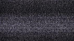 Fondo del ruido TV pantalla de la televisión de la forma de vida con el ruido estático causado por la mala recepción de la señal  metrajes