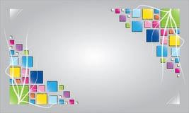 fondo del símbolo, cuadrado colorido Fotos de archivo libres de regalías