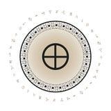 Fondo del símbolo del planeta de la tierra Fotografía de archivo