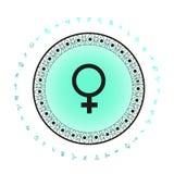 Fondo del símbolo del planeta de Venus Imagenes de archivo