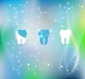 Fondo del símbolo del tratamiento de los dientes Fotografía de archivo libre de regalías