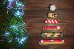 Fondo del `s del Año Nuevo saludo El concepto de la Navidad y de Ne Imagen de archivo libre de regalías
