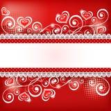 Fondo 5 del ` s del biglietto di S. Valentino Immagini Stock