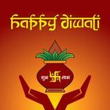 Fondo del saludo de Diwali