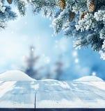 Fondo del saludo de la Feliz Navidad y de la Feliz Año Nuevo Fotos de archivo