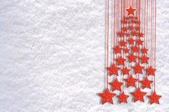 Fondo del saludo de la Navidad con los objetos de la decoración del árbol imagen de archivo libre de regalías