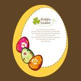 Fondo del saludo de Pascua Imagenes de archivo