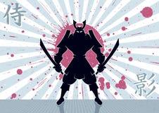 Fondo del samurai Fotografie Stock Libere da Diritti