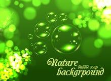 Fondo del sapone della bolla Fotografie Stock Libere da Diritti