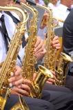 Fondo del saxofón Fotografía de archivo