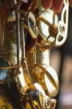 Fondo del saxofón Fotografía de archivo libre de regalías
