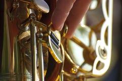 Fondo del saxofón Imágenes de archivo libres de regalías