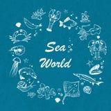 Fondo del seaworld del vector Fotografía de archivo libre de regalías