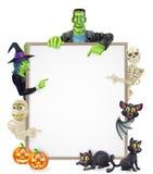 Fondo del segno di Halloween Fotografia Stock Libera da Diritti
