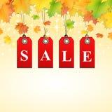 Fondo del segno di vendita di autunno Immagini Stock