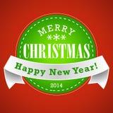 Fondo del sello de la Navidad Fotografía de archivo libre de regalías
