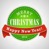 Fondo del sello de la Navidad Fotos de archivo