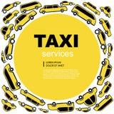 Fondo del servicio del taxi Fotos de archivo