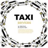 Fondo del servicio del taxi Fotografía de archivo