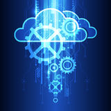 Fondo del sistema di tecnologia della nuvola di vettore, illustrazione Fotografia Stock