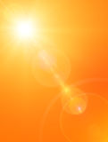 Fondo del sole di estate Fotografie Stock