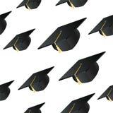 Fondo del sombrero del estudiante ilustración del vector