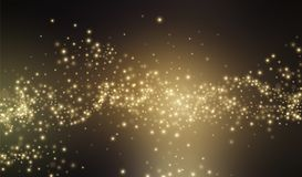 Fondo del stardust del brillo del oro Ilustración del vector Fotos de archivo