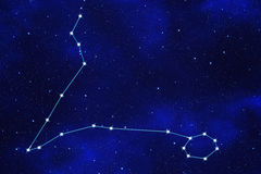 fondo del Stella-campo del simbolo zodiacale Immagine Stock