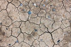 Fondo del suelo secado de la grieta Fotografía de archivo libre de regalías