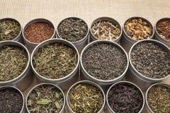 Fondo del tè dell'a fogli staccabili Fotografia Stock
