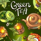 Fondo del té Fotos de archivo