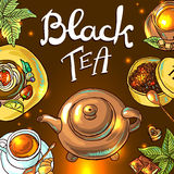 Fondo del té Imagen de archivo libre de regalías