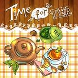 Fondo del té Fotografía de archivo