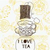Fondo del té del amor Foto de archivo