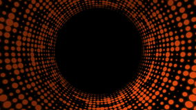 Fondo del túnel del disco almacen de metraje de vídeo