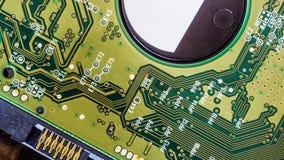 fondo del tablero del disco duro del circuito Fotos de archivo