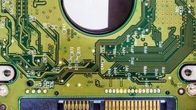 fondo del tablero del disco duro del circuito Foto de archivo libre de regalías