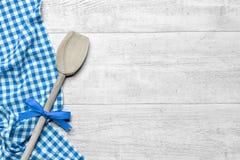 Fondo del tavolo da cucina Fotografie Stock