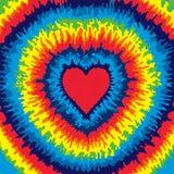 Fondo del teñido anudado del corazón Foto de archivo