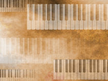Fondo del teclado de la música de Grunge Foto de archivo