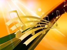 Fondo del tema de la música Fotografía de archivo libre de regalías