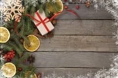 Fondo del tema de la Navidad Fotografía de archivo libre de regalías