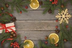 Fondo del tema de la Navidad Imágenes de archivo libres de regalías