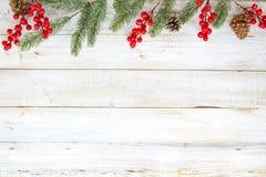 Fondo del tema de la Navidad con el adornamiento Fotos de archivo libres de regalías