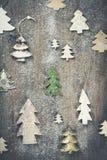 Fondo del tema de la Navidad en estilo del vintage fotos de archivo