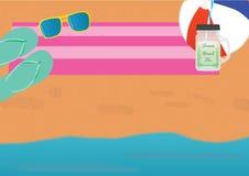 Fondo del tema de la playa Foto de archivo